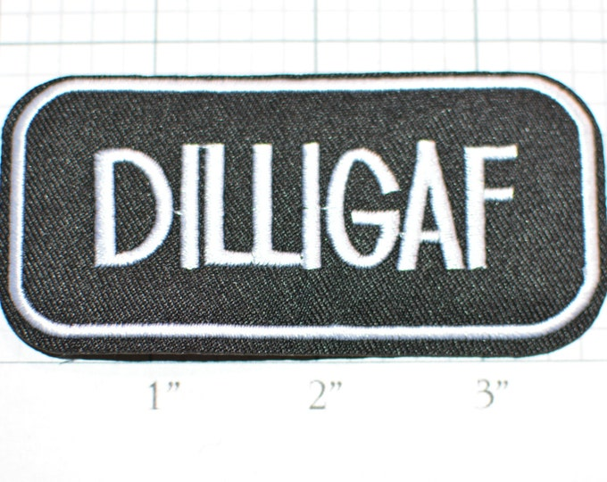 DILLIGAF (Do I Look Like I Give A F***) Iron-On Outlaw 1% Biker Patch Jeans Jacket Patch Backpack Patch Motorcycle Vest Patch Hat Patch s7