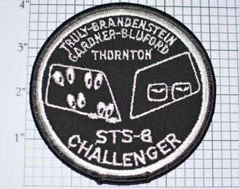 "Mint 4"" STS-8 Space Shuttle Challenger Alternate Mission Patch NASA Embroidered Iron-on Patch Collectible e22g"