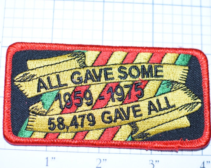 All Gave Some 58,479 Gave All - New Iron-on Clothing Patch Vietnam War Patch Military Patch Armed Services Vietnam Memorabilia Biker oz1