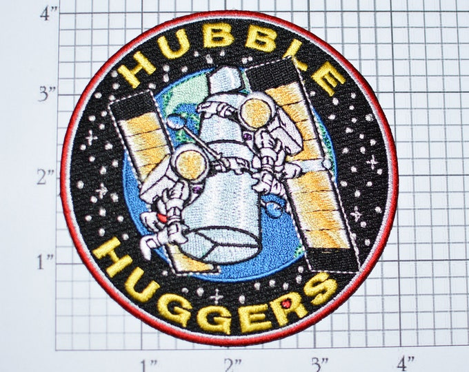 Mint NASA 4-Inch Hubble Huggers Space Telescope Iron-on Patch Collectible Patch Uniform Patch Jacket Patch Hat Patch Shirt Patch s5