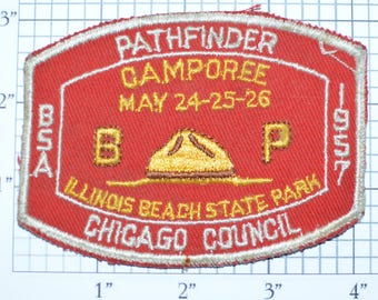 Pathfinder Camporee 1957 Chicago Council Boy Scouts Patch BSA Patch Scouting Vintage Sew-On Embroidered Uniform Vest Patch Collectible e20q