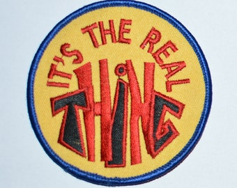 It's The Real Thing Flirty Conversation Starter Embroidered Vintage Clothing Patch Jacket Patch Jeans Patch Backpack Patch Hat Patch s13