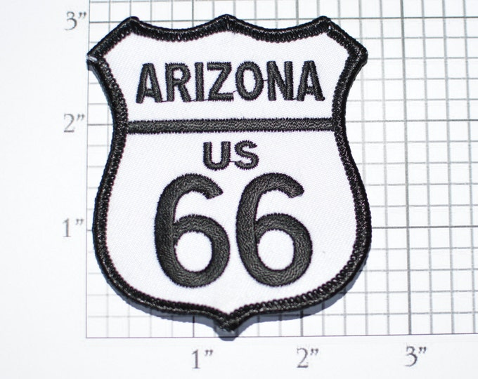 Arizona US ROUTE 66 Iron-On Embroidered Clothing Patch Biker Jacket Vest Backpack USA Trip Travel Road Sign Tourist Souvenir Collectible