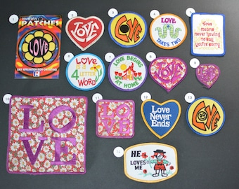 Love Iron-on Vintage Embroidered Clothing Patches for Jacket Jeans Vest Backpack Purse Hippie Boho Fashion Cute Fun Sewing Craft Project l1