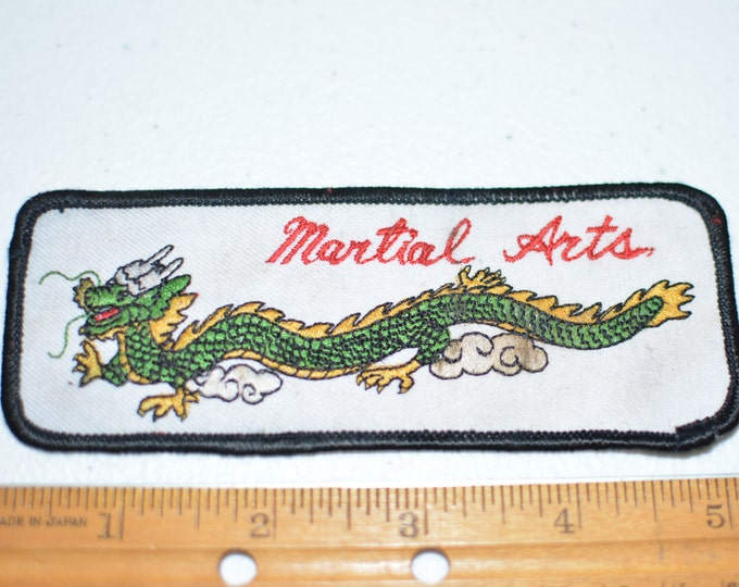 Martial Arts Iron-On Vintage Embroidered Dragon Clothing Patch for Dobok Uniform Shirt Jacket Vest Collectible TKD Karate Kung Fu