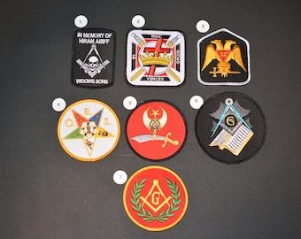 Masonic Iron-On Patch Embroidered Patch Freemasonry Patch Mason Patch Lodge Architect Hiram Abiff 32nd Degree G HOC Order Eastern Star