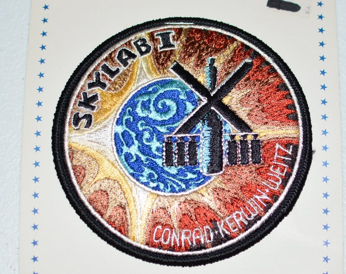 Mint Skylab 1 I LARGE Vintage Embroidered Clothing Patch NASA Space Mission Aerospace Collectible Memorabilia Astronaut Collector Gift f1z