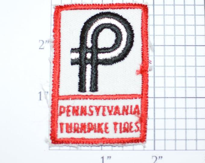 Pennsylvania Turnpike Tires Company Sew-On Vintage Clothing Patch Biker Jacket Vest Uniform Shirt Emblem Logo Insignia Tyre Auto Mechanic