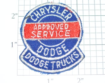 Chrysler Dodge Plymouth Automotive Embroidered Iron On Patch