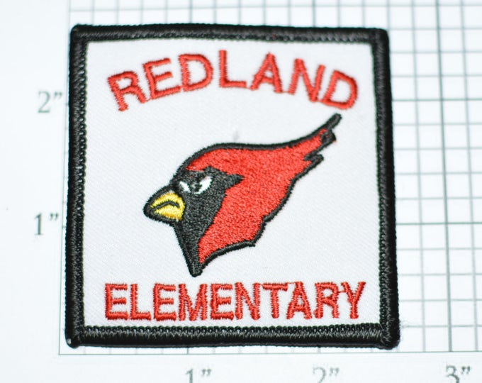 Redland Elementary School Cardinals Dade Couny Homestead Florida Iron-on Patch Embroidered Patch Jacket Patch Shirt Patch Hat Patch e22k