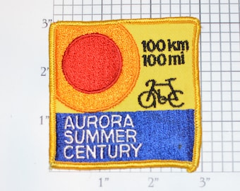 CTC Cleveland Touring Club 1988 Sunday in June Annual Cycling Event Sew-on Vintage Embroidered Clothing Patch Bicycle Memento Souvenir