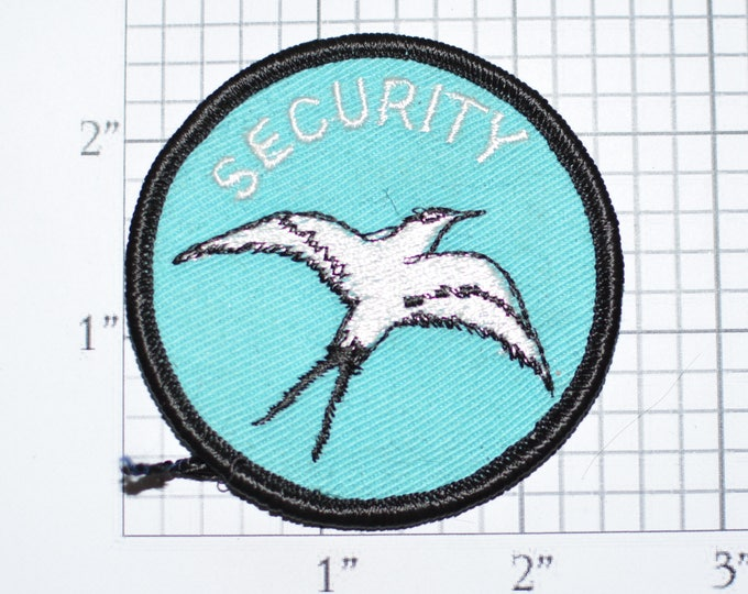 SECURITY Iron-on Vintage Embroidered Patch Uniform Shirt Jacket Guard Bodyguard Bouncer Officer Cop Patrol DIY Cosplay Costume Bird e30h