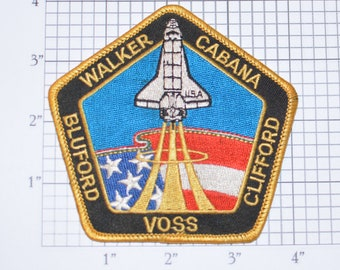 STS-53 Space Shuttle Discovery Iron-on Embroidered Astronaut 1992 Mission Patch Collectible NASA Emblem Walker Cabana Bluford Voss Clifford