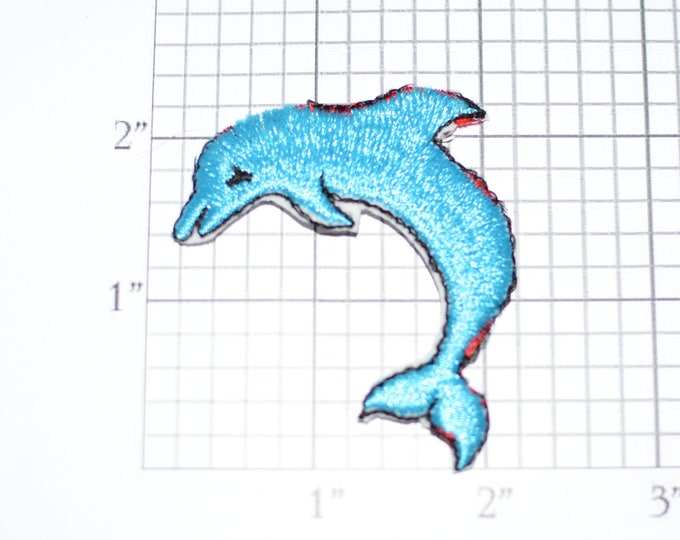 Cute Dolphin Vintage Stick-on / Sew-on Patch Embroidered Clothing Patch Jacket Patch Hat Patch Shirt Patch Animals Ocean Sea e27a