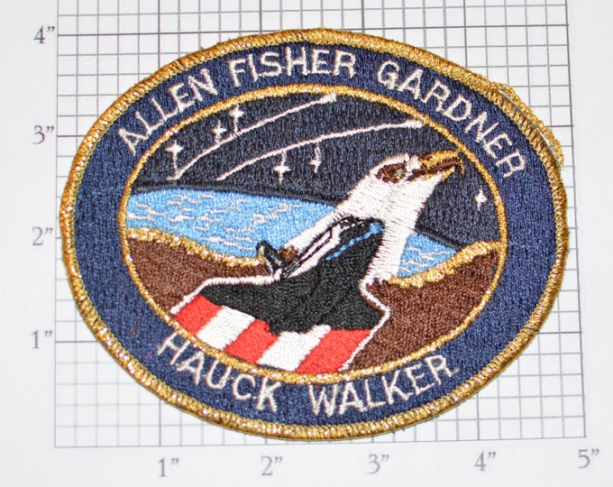 STS-51-A Space Shuttle Discovery Iron-on Embroidered Astronaut 1984 Mission Patch Collectible NASA Emblem Memorabilia Aerospace Engineering
