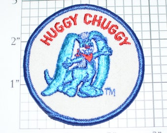Huggy Chuggy Milk Bunny Vintage Iron-On Embroidered Patch Jacket Patch Vest Patch Hat Patch Shirt Patch Collectible Memorabilia Cute e19y