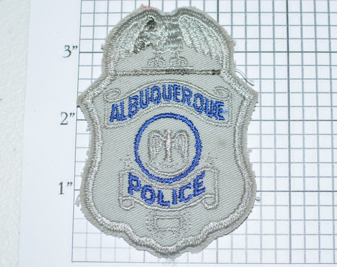 Albuquerque Police New Mexico NM Sew-on Embroidered Patch, Shoulder Patch Uniform Patch Shirt Patch Jacket Patch Vest Patch Collectible e23c
