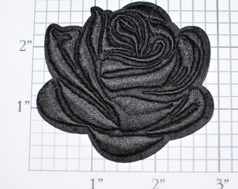 Beautiful Black Rose Iron-on Embroidered Biker DIY Clothing Jacket Patch Jeans Vest Hat Backpack Applique Death Grief Anarchy Mutiny s9