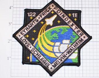 STS-122 Space Shuttle Atlantis Iron-on Mission Patch Collectible Memorabilia NASA Eyharts Frick Poindexter Love Schlegel Melvin Walheim Logo