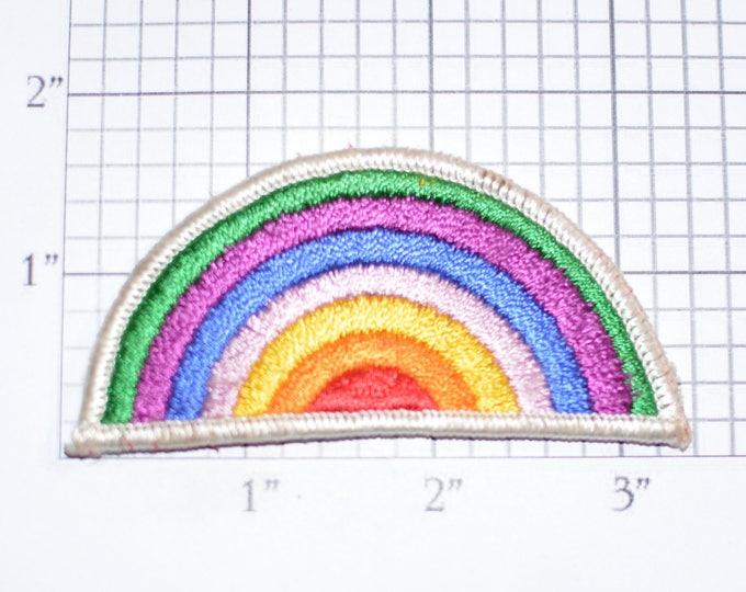 Rainbow Iron-On Vintage Embroidered Clothing Patch Jacket Patch Shirt Jeans Patch Backpack Patch Positive Thinking Diversity Acceptance e31b