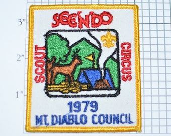 BSA See'N'Do Scout Circus 1979 Mt Diablo Council California Sew-On Vintage Embroidered Patch Jacket Patch Vest Uniform Patch Scouting