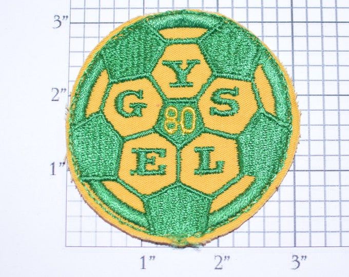 Elk Grove (California) Youth Soccer League (EGYSL) 1980 Sew-on Embroidered Clothing Patch Sports Jacket Vest Jersey Shirt Hat Ball Logo Kids