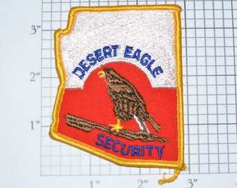 Desert Eagle Security Officer Arizona Emblem RARE Iron-On Vintage Uniform Shoulder Patch for Jacket Vest Shirt Collectible Souvenir e31i