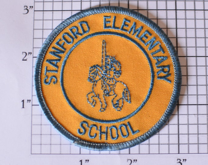 Stanford Elementary School Knight Rider Horse Joust Lance Iron-on Patch Embroidered Patch Jacket Patch Shirt Patch Hat Clothing Patch e15f