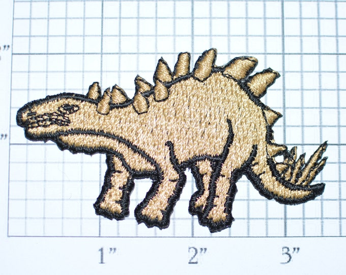 Stegosaurus Dinosaur Vintage Iron-on Clothing Patch Embroidered Patch Jacket Patch Jeans Patch Backpack Patch Hat Patch Applique e21k