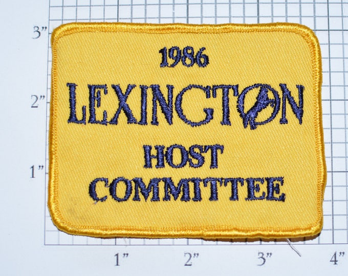 Lexington Host Committee 1986 Equestrian Vintage Sew-on Embroidered Clothing Patch for Jacket Vest Shirt Clothes Souvenir Kentucky e33b