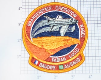 STS-51-G Space Shuttle Discovery Embroidered Astronaut Mission Patch Collectible NASA Emblem STEM Aerospace Engineering Keepsake Logo
