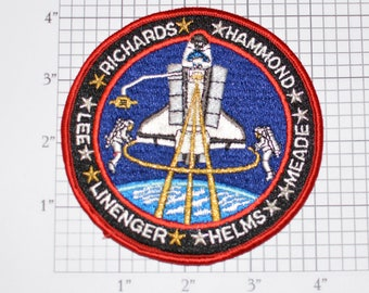 STS-64 Space Shuttle Discovery Iron-on Embroidered Astronaut 1994 Mission Patch Collectible NASA Emblem Memorabilia Aerospace Engineering