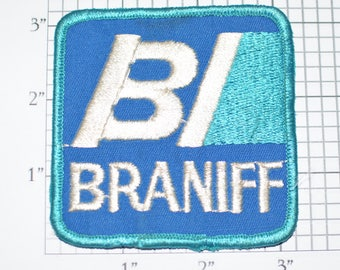 Braniff International (Defunct) Airline RARE Vintage Sew-On Embroidered Patch Uniform Patch Shirt Patch Jacket Patch Travel Collectible e19v