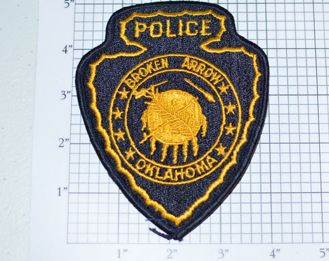 Broken Arrow Oklahoma Police Iron-on Vintage Embroidered Patch Shoulder Patch Uniform Patch Jacket Vest Patch Shirt Patch Collectible e23g