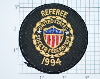 Referee USSF 1994 United States Soccer Federation Vintage Iron-on Embroidered Clothing Patch Applique Sport Uniform Shirt Jacket Jersey e30f