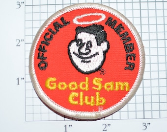 Official Member Good Sam Club RV Iron-On Vintage Embroidered Patch Travel Trip Souvenir for Jacket Vest Shirt Hat Backpack Keepsake e30b