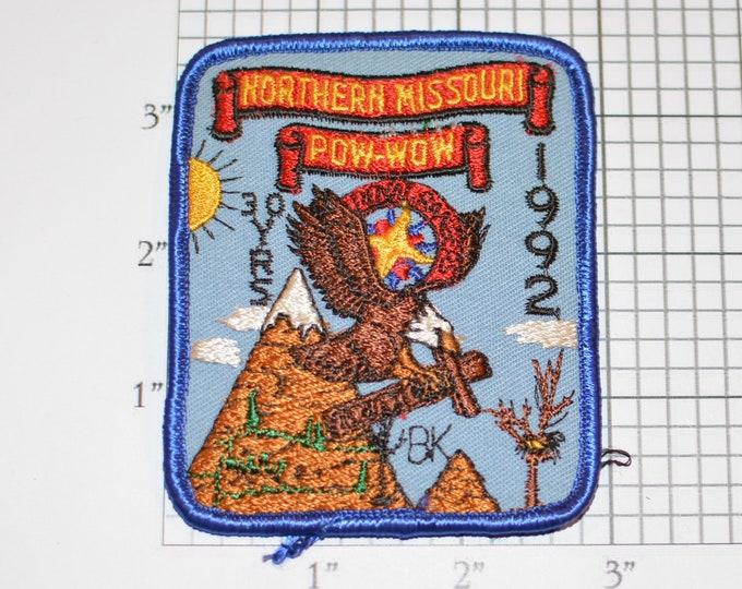 Northern Missouri Pow Wow, 30 Yrs, 1992 Vintage Royal Rangers Iron-On Vintage Embroidered Clothing Patch Uniform Shirt Vest Jacket Keepsake