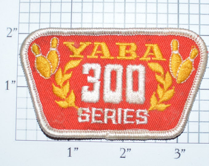 YABA (Youth American Bowling Alliance) 300 Series Achievement Sew-on Embroidered Clothing Patch Jacket Shirt Hat Kids Children Sports e28m