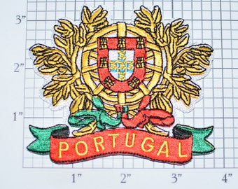 PORTUGAL Crest Coat of Arms Iron-On Embroidered Clothing Patch Jacket Vest Jeans Shirt Backpack Travel Trip Souvenir Memorabilia Pride vb1c