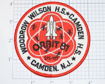 STS-107 Space Shuttle Challenger Iron-on Mission Patch Ant Farm Woodrow Wilson Camden High Schools Orbit 81 Collectible Memorabilia NASA