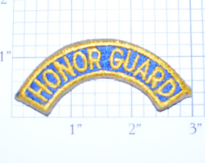 Honor Guard Vintage Sew-on Military Uniform Rocker Patch Shirt Patch Jacket Patch Vest Patch Sewing Embroidered Applique e19v