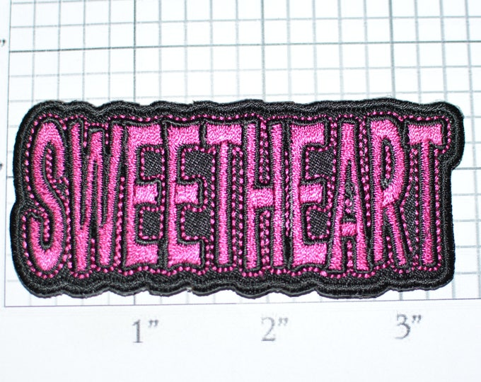 Sweetheart Iron-On Embroidered Clothing Patch for Shirt Jacket Vest Hat Backpack Jeans Purse Nickname Novelty Emblem DIY Clothes Craft t03a