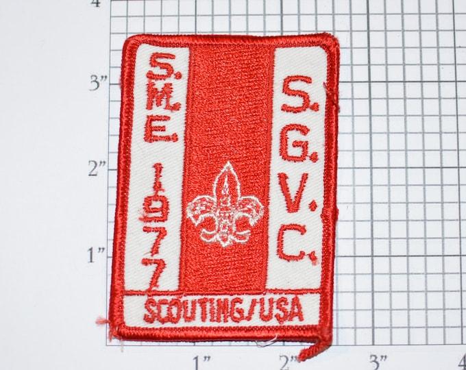 1977 SME SGVC (San Gabriel Valley Council) California Scouting USA Vintage Sew-on Patch Boy Scouts Bsa Scouting Memorabilia Fleur De Lis