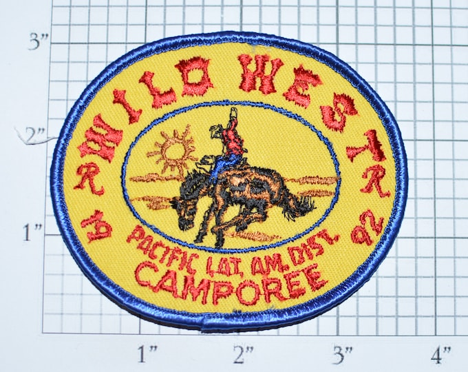 Royal Rangers Wild West 1992 Pacific Latin America District Camporee Vintage Embroidered Clothing Patch Souvenir Collectible Emblem e31k
