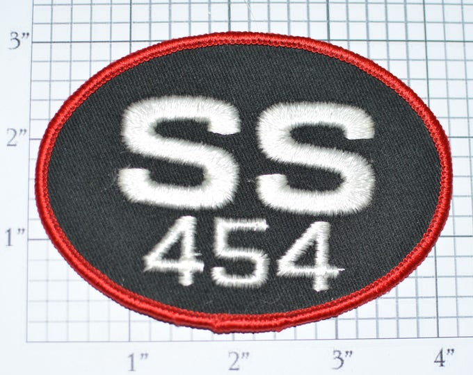 Vintage SS 454 Embroidered Patch Sew-on Applique Sports Car Emblem Collectible Insignia Logo Jacket Patch Hat Patch Car Guy Gift e27c