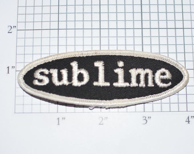 SUBLIME Black & White Iron-on Authentic Vintage Embroidered Clothing Patch Ska Band Music Souvenir Collectible Memorabilia Fan Gift Idea s4