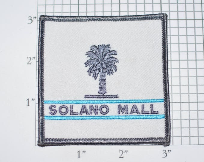Solano Mall Town Center Vintage Iron-On Embroidered Clothing Patch for Uniform Jacket Work Shirt Shopping Stores Fairfield California s10