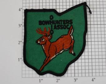 Ohio Bowhunters Association Deer Hunter Patch Conservation Vintage Sew-on Embroidered Patch for Jacket Vest Shirt Souvenir Memorabilia e19T