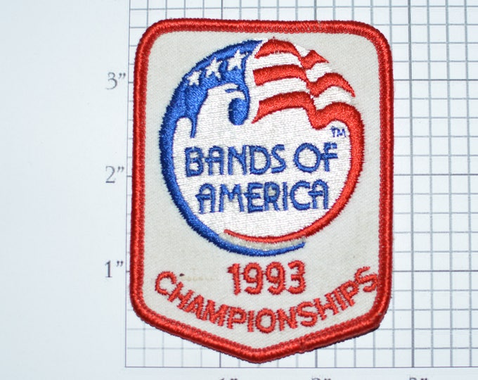 Bands of America 1993 Championships RARE Embroidered Clothing Patch for Jacket Shirt Vest Backpack Jeans Collectible Souvenir Award e26L