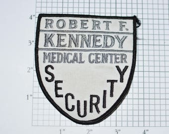 Robert F Kennedy Security Iron-On Vintage Embroidered Uniform Shoulder Patch for Jacket Vest Shirt Hawthorne California CA Collectible e32J